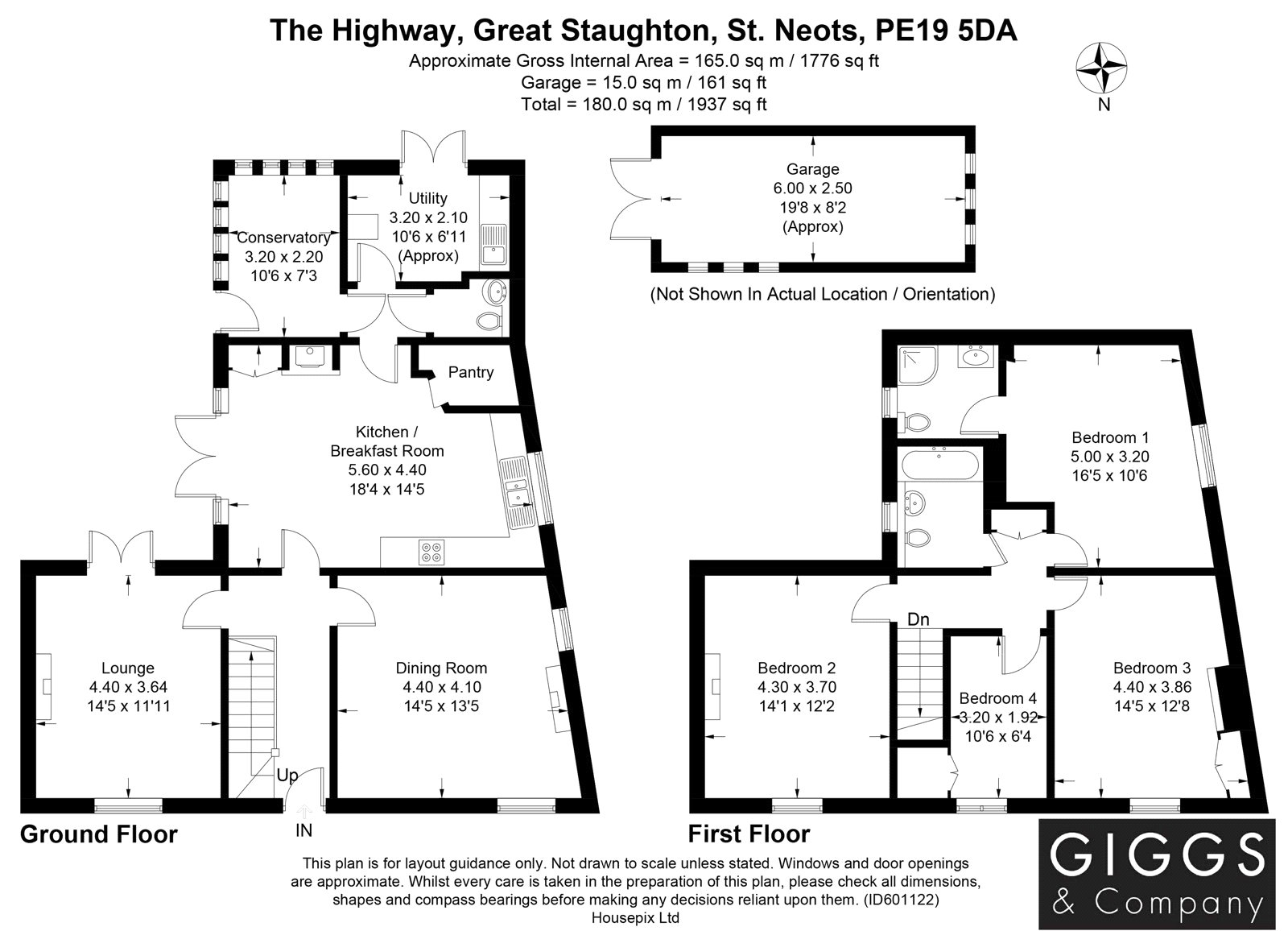 4 bed house for sale in Great Staughton - Property Floorplan