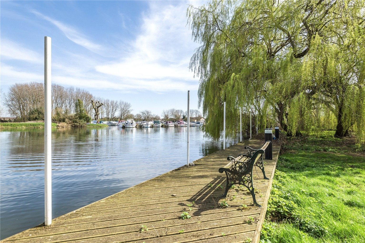 Have you ever dreamt of owning your own river boat, or river frontage with fishing rights? This could be your chance. A very rare opportunity has arisen to acquire this substantial riverside plot, right next to the marina in St. Neots.