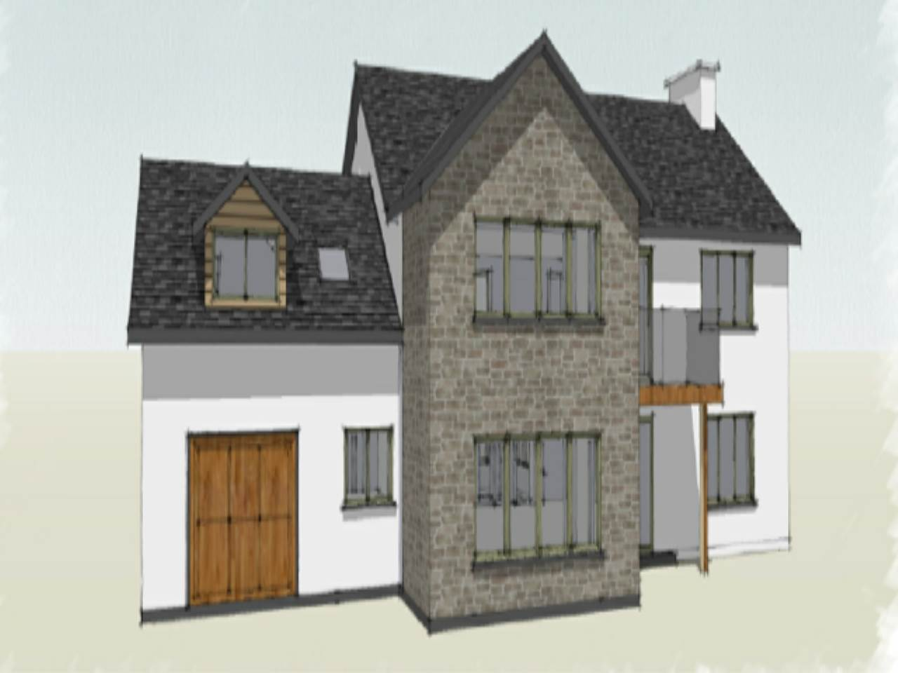 5 bed detached-house for sale in Llandre, SY24