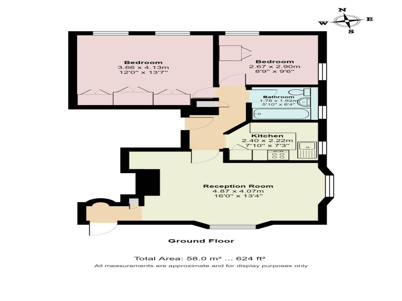 2 bed flat for sale in Spriggs Oak, Palmers Hill - Property Floorplan