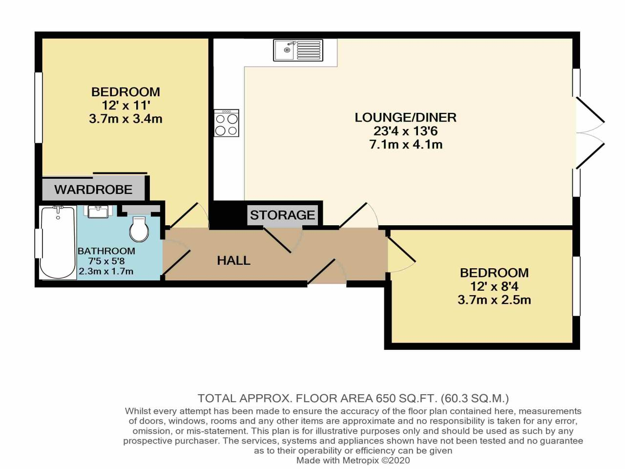 2 bed flat for sale in Wanti Terrace , Chigwell  - Property Floorplan
