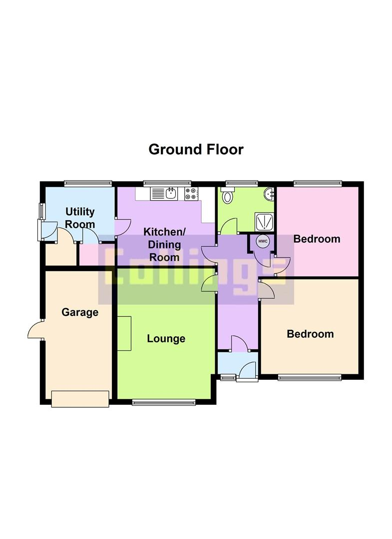 2 bed detached bungalow to rent in Long Sutton Spalding, PE12 9EP - Property Floorplan