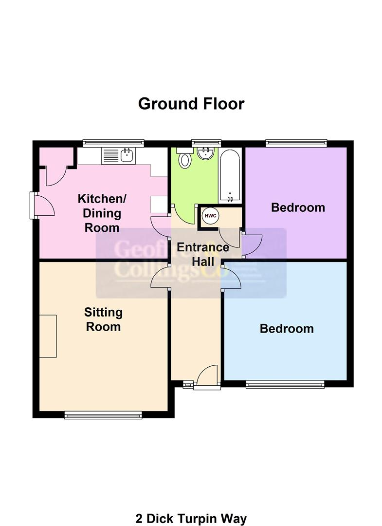 2 bed detached bungalow to rent in Dick Turpin Way, Long Sutton Spalding - Property Floorplan