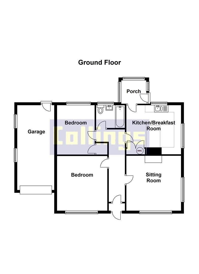 2 bed detached bungalow to rent in Sturton Way, Long Sutton Spalding - Property Floorplan