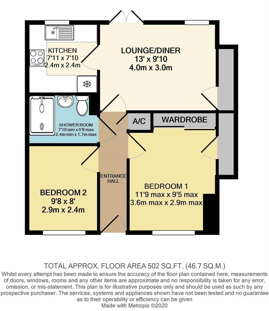 2 bed flat for sale in King's Lynn, PE30 1EG - Property Floorplan