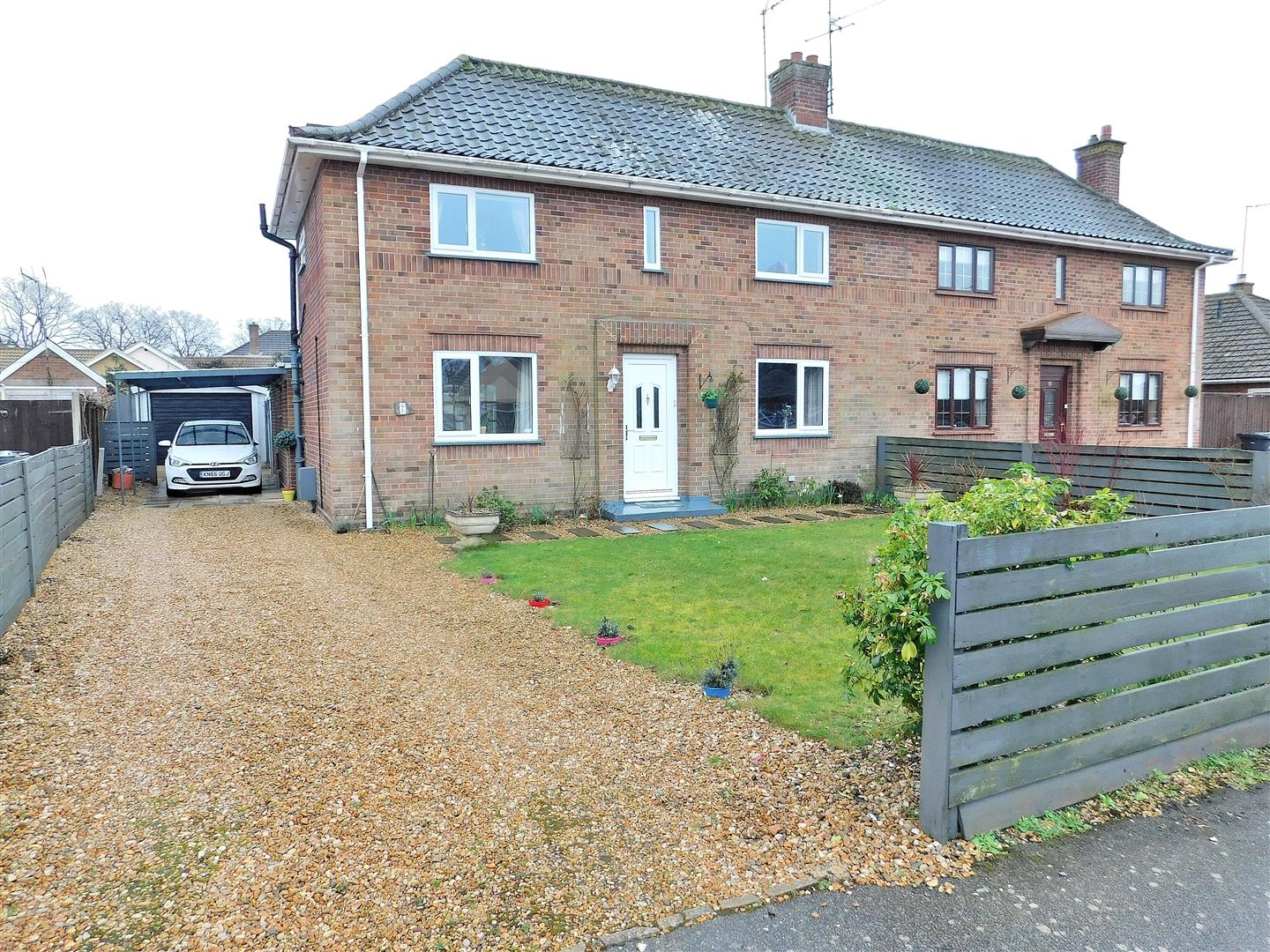 3 bed semi-detached house for sale in Arundel Drive, King's Lynn  - Property Image 1
