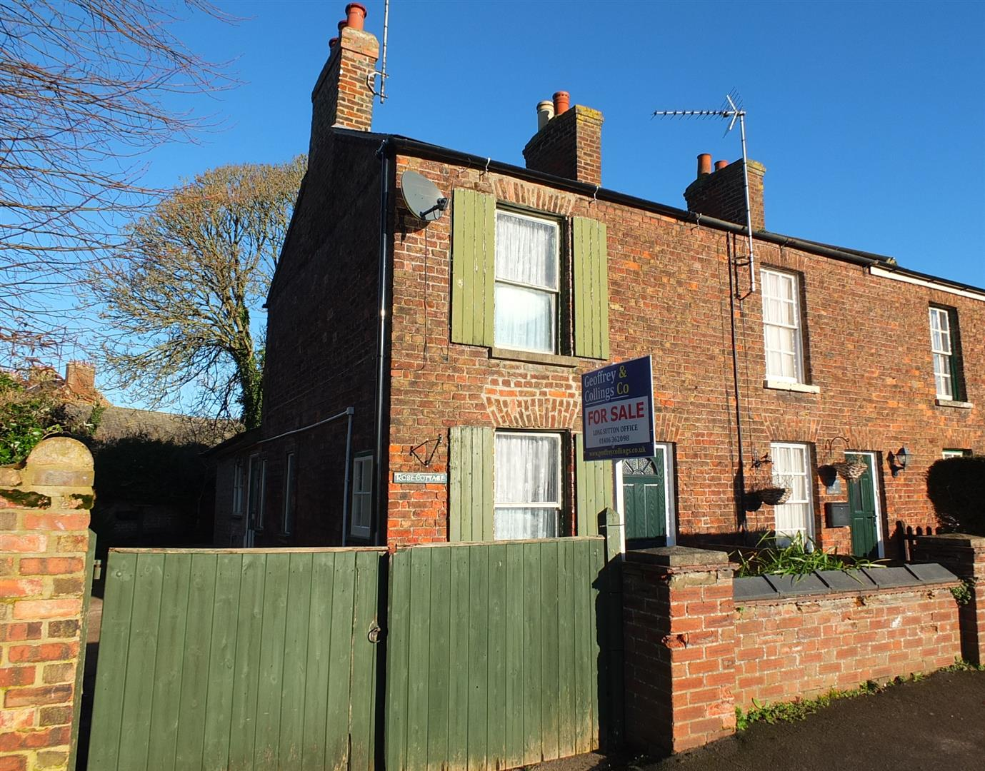 2 bed end of terrace house for sale in Long Sutton Spalding, PE12 9HA, PE12