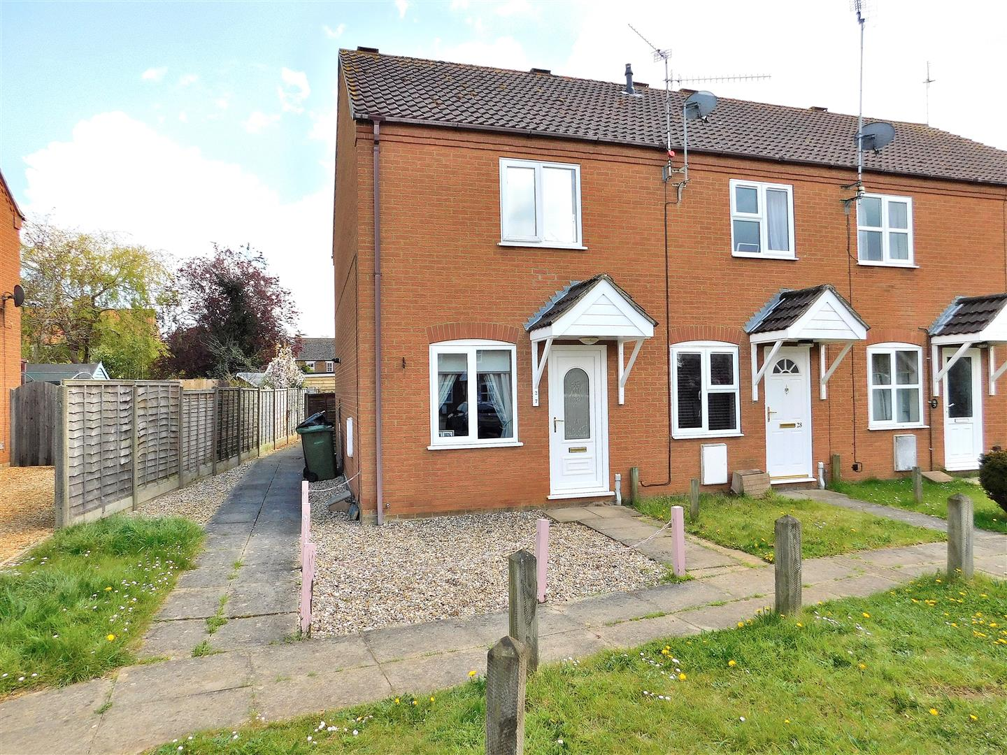 2 bed end of terrace house for sale in Wallace Twite Way, King's Lynn, PE31