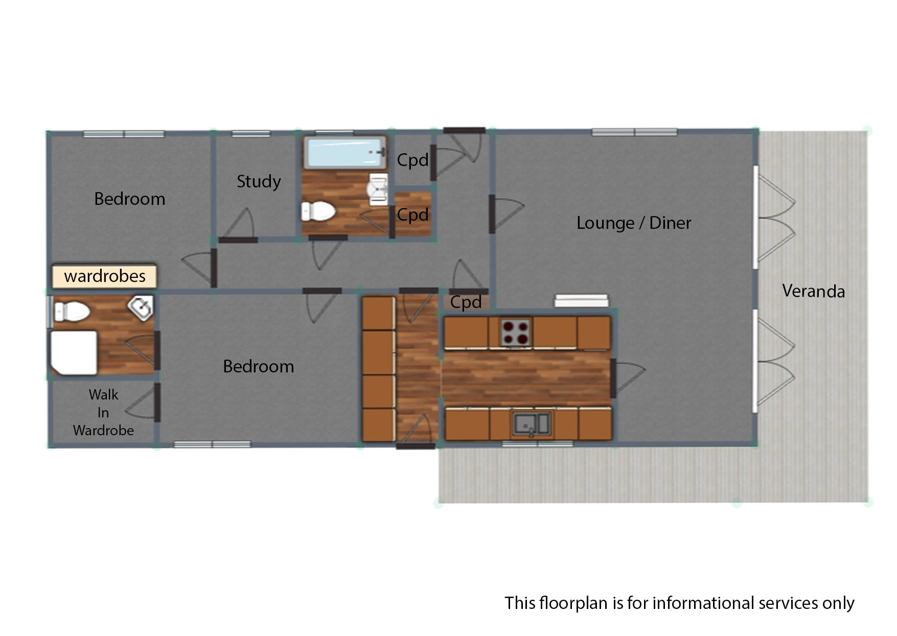 2 bed house for sale in Waterfront, Hayes Country Park - Property Floorplan