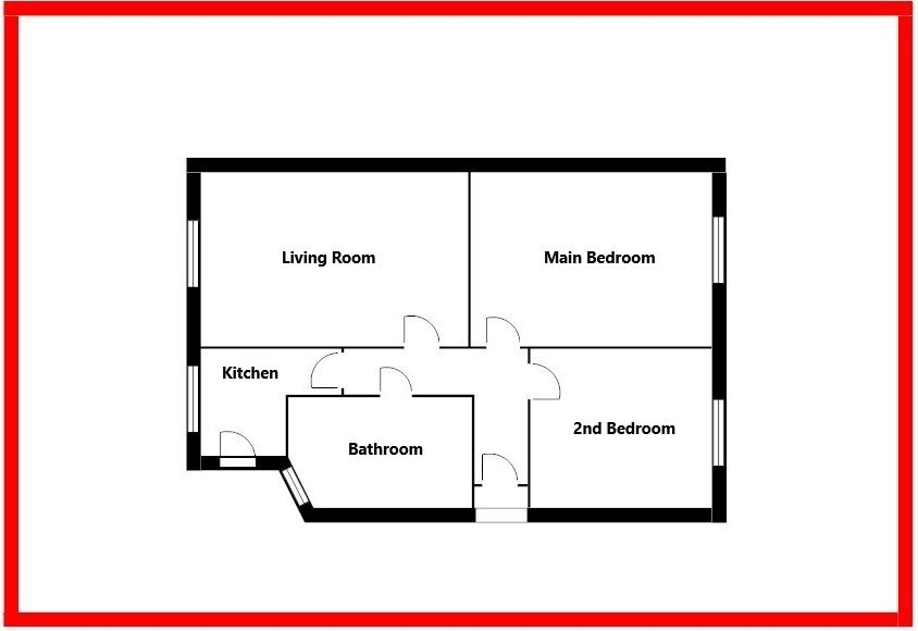 2 bed flat for sale in Benleigh House, Down Hall Road - Property Floorplan