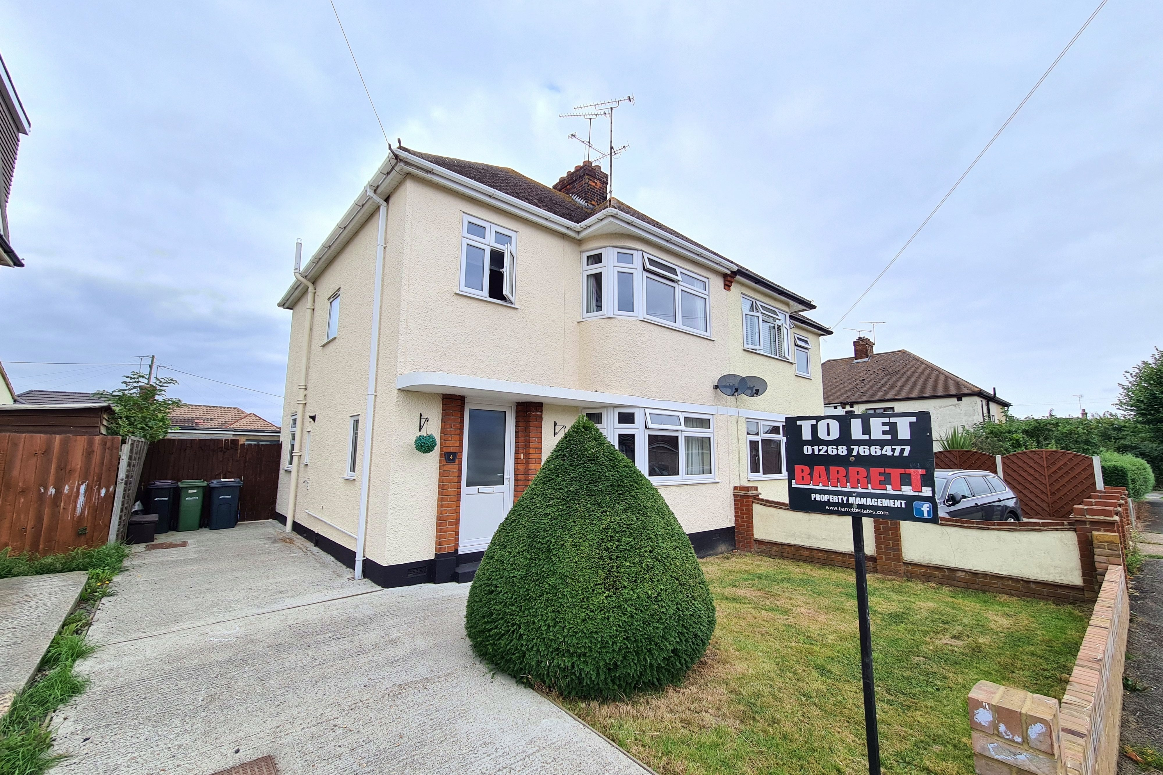 3 bed semi-detached house to rent in Grange Gardens, Rayleigh, SS6