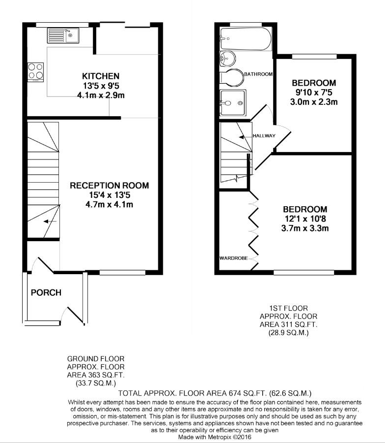 2 bed end of terrace house for sale in Colin Gardens, London - Property Floorplan