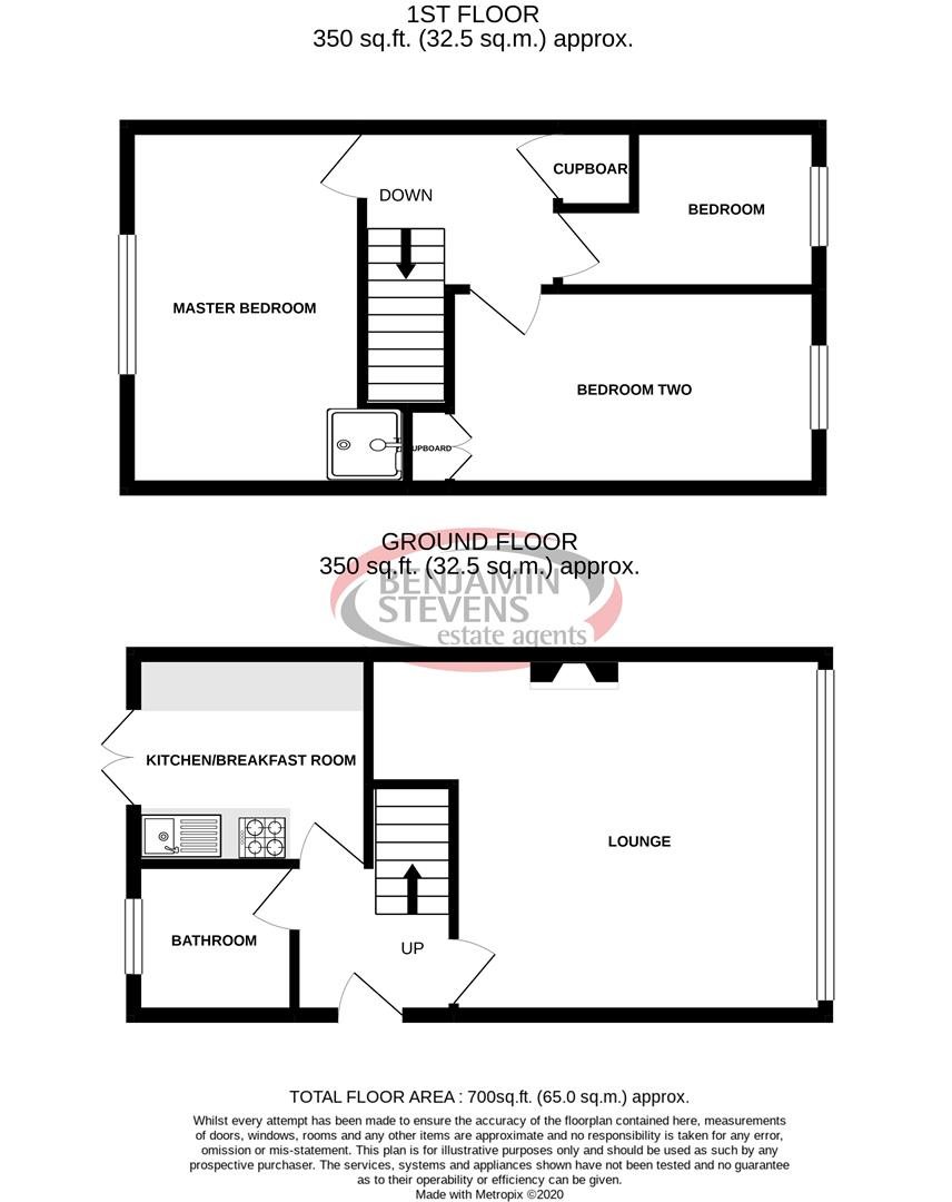 3 bed house for sale in Cleves Way, Ashford - Property Floorplan