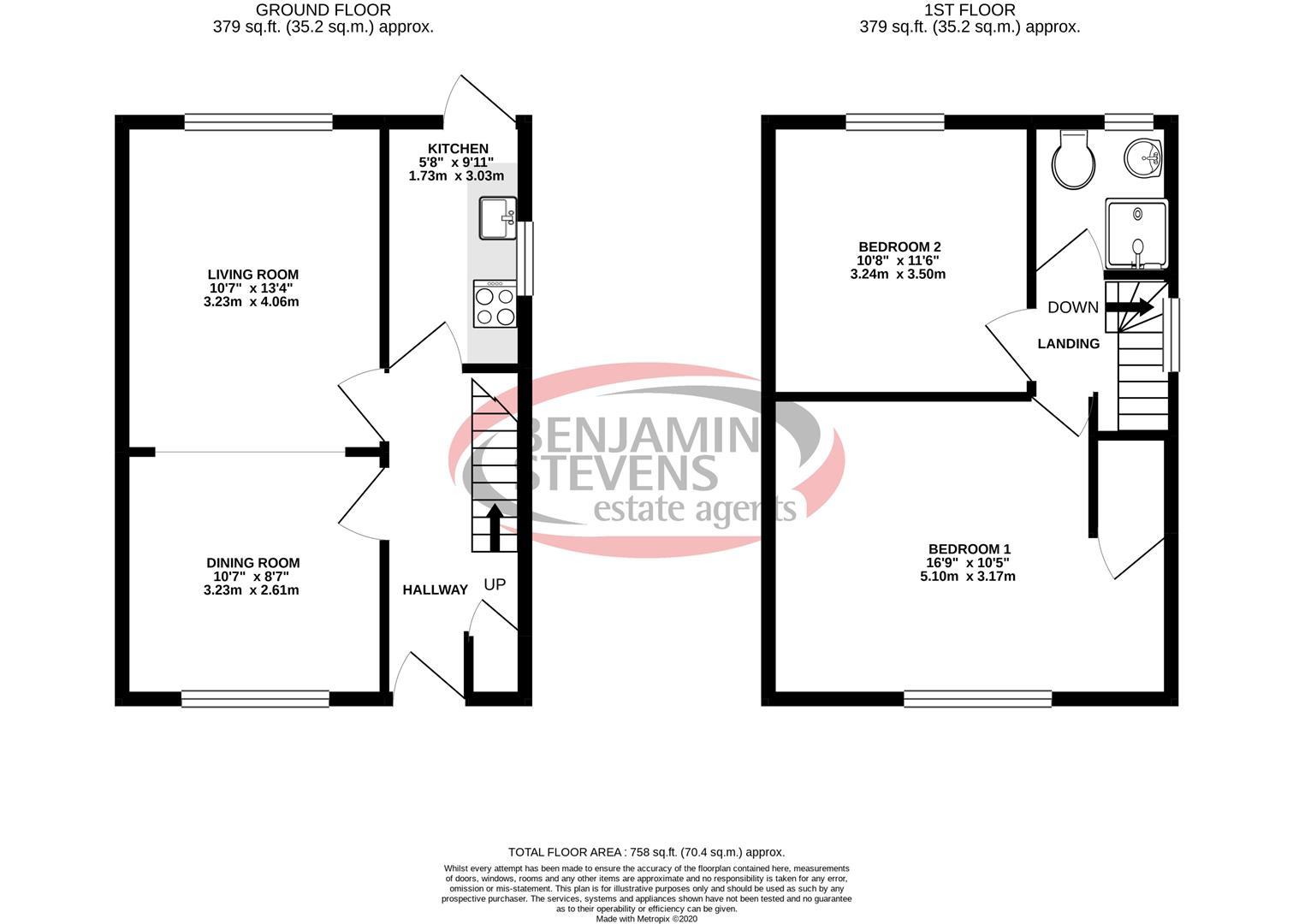 2 bed house for sale in Deansbrook Road, Edgware - Property Floorplan
