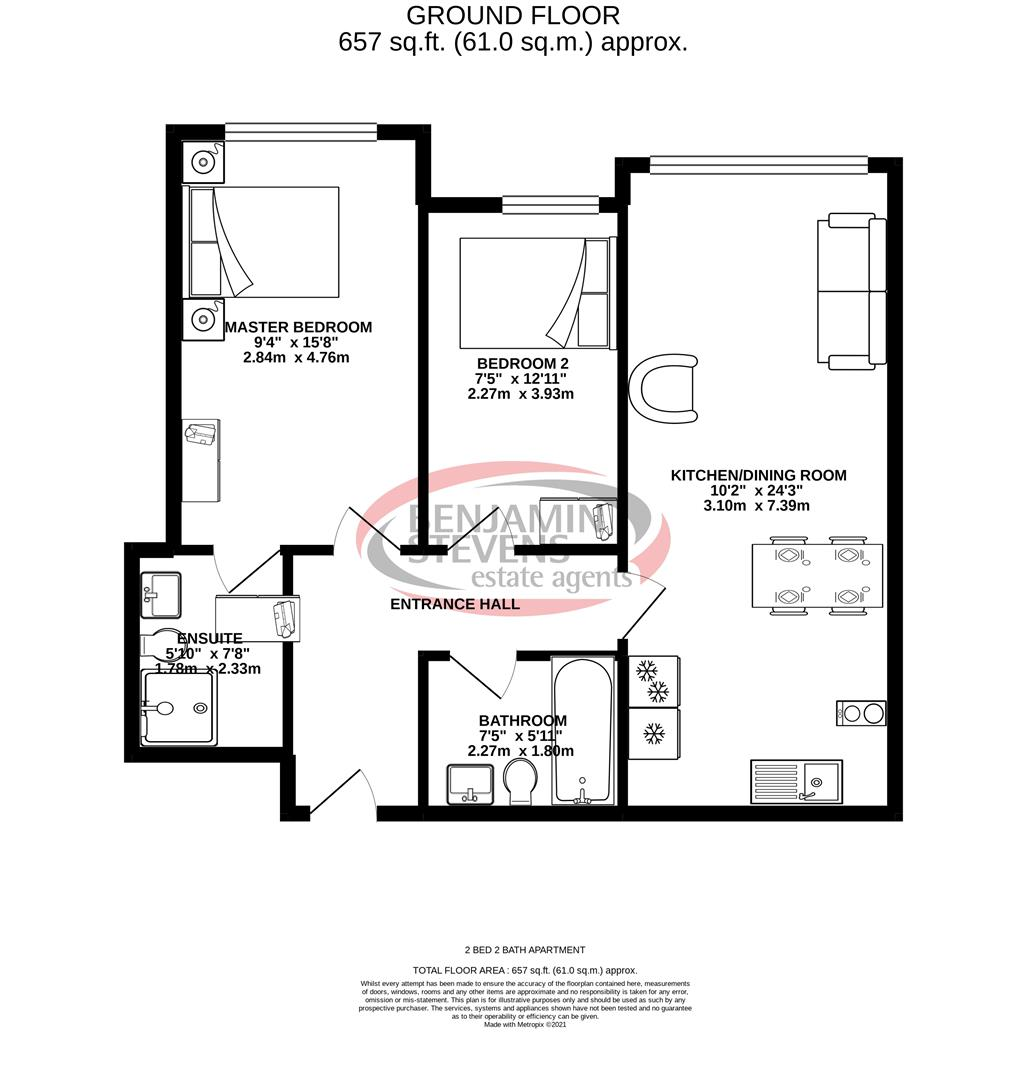 2 bed apartment to rent in Station Approach, Hayes - Property Floorplan