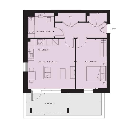 1 bed apartment for sale in Vernon Street, Leigh - Property Floorplan