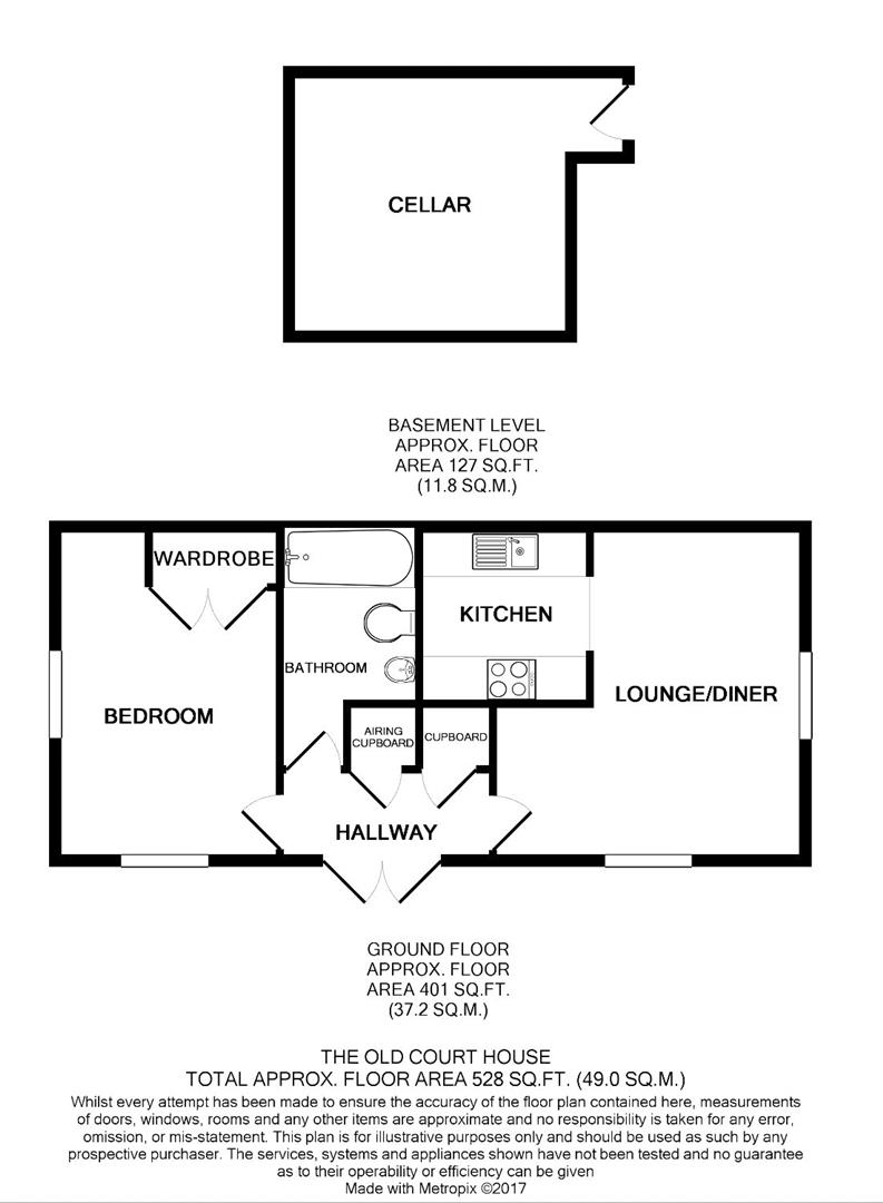 1 bed flat to rent in The Old Courthouse, Stansted - Property Floorplan