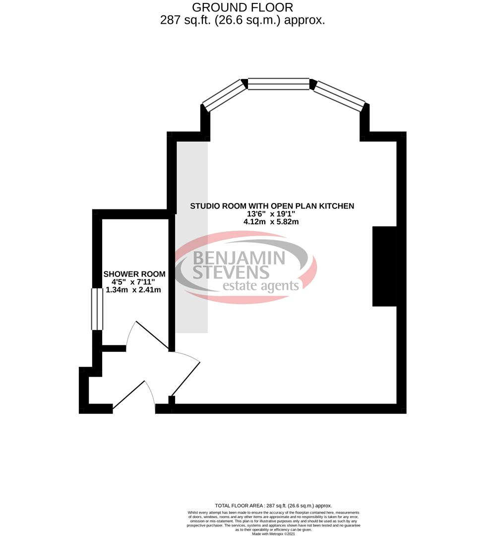 Studio flat to rent in 18 Granville Road, North Finchley - Property Floorplan