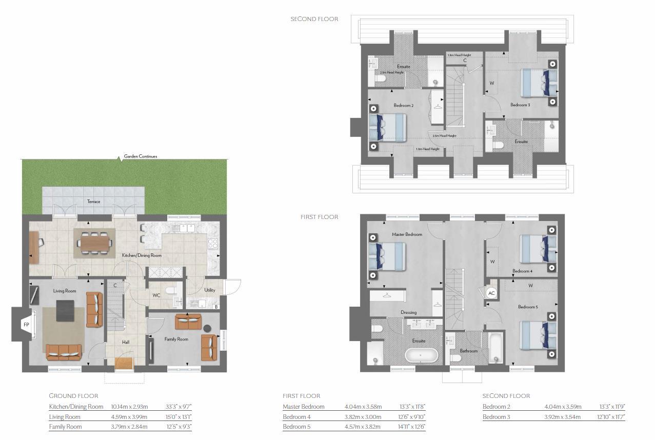 5 bed detached house for sale in Trent Park, Barnet - Property Floorplan