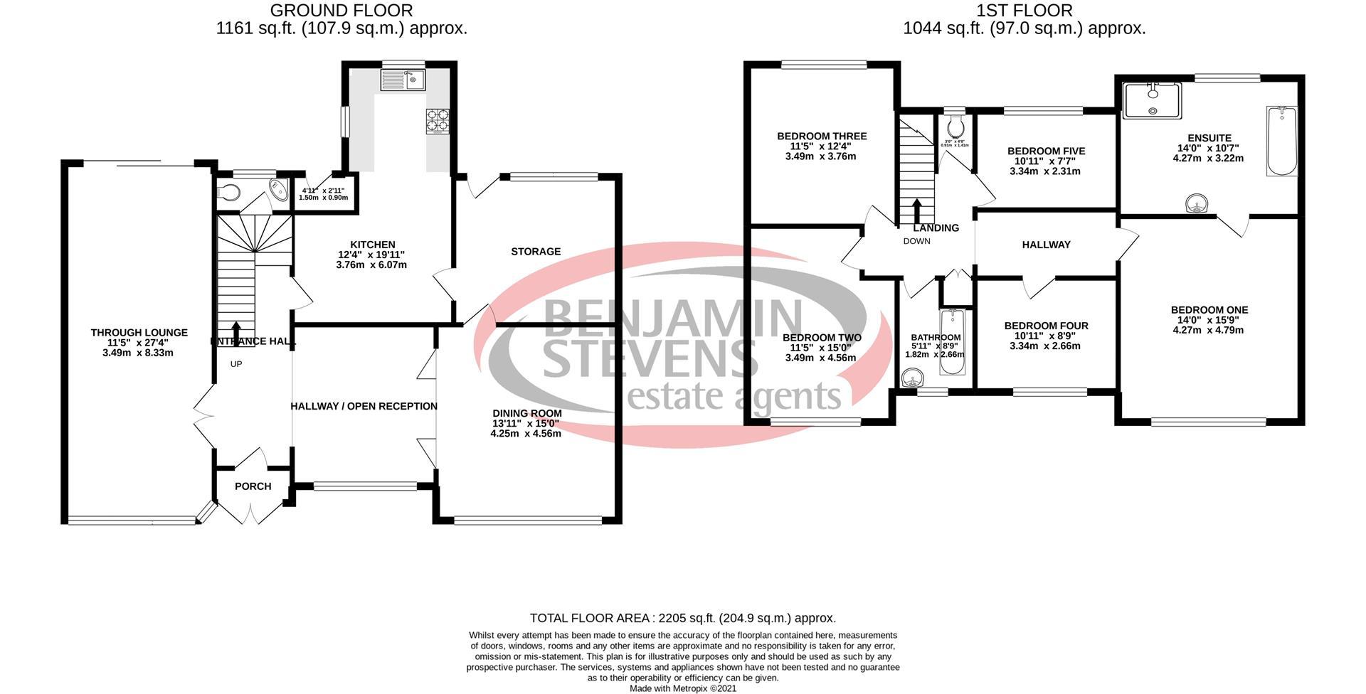 5 bed semi-detached house for sale in Mill Ridge, Edgware - Property Floorplan