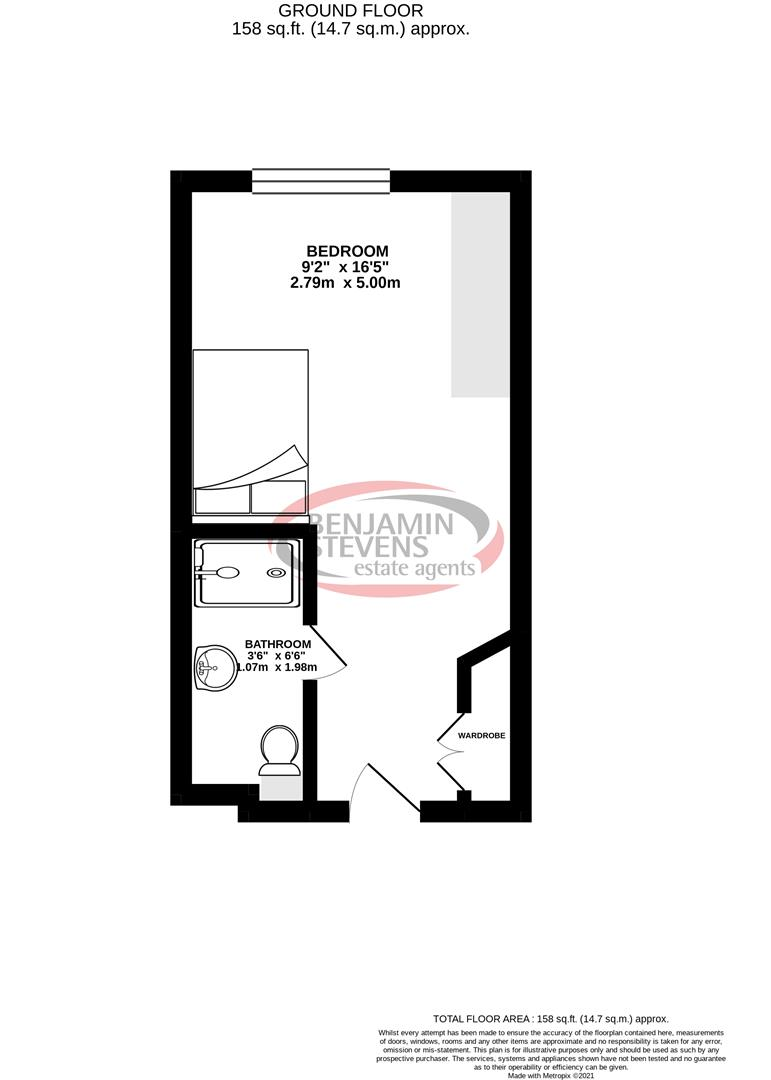 1 bed house share for sale in Flat, 4 Dumfries Street, Luton - Property Floorplan