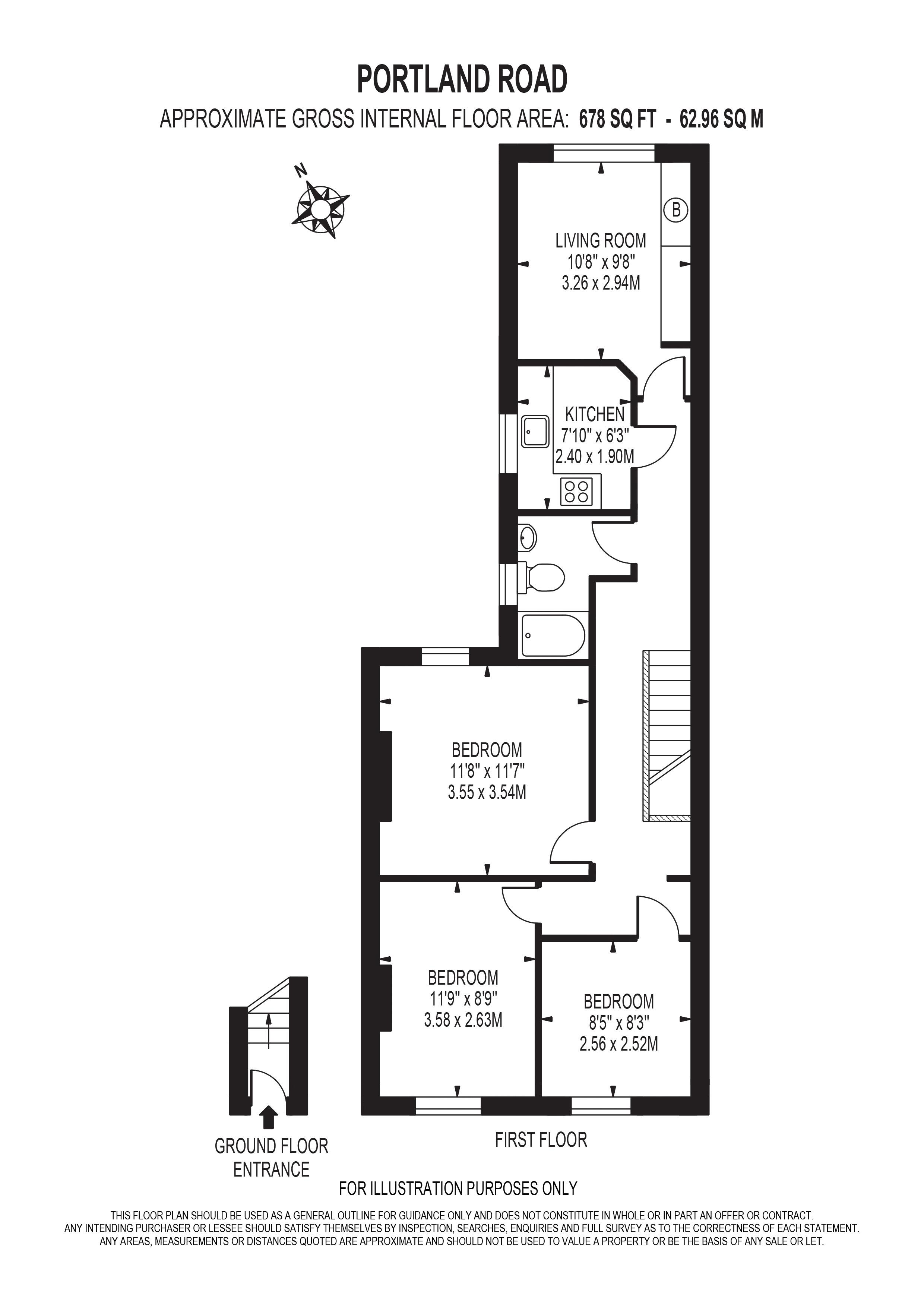 3 bed flat for sale in South Norwood - Property Floorplan