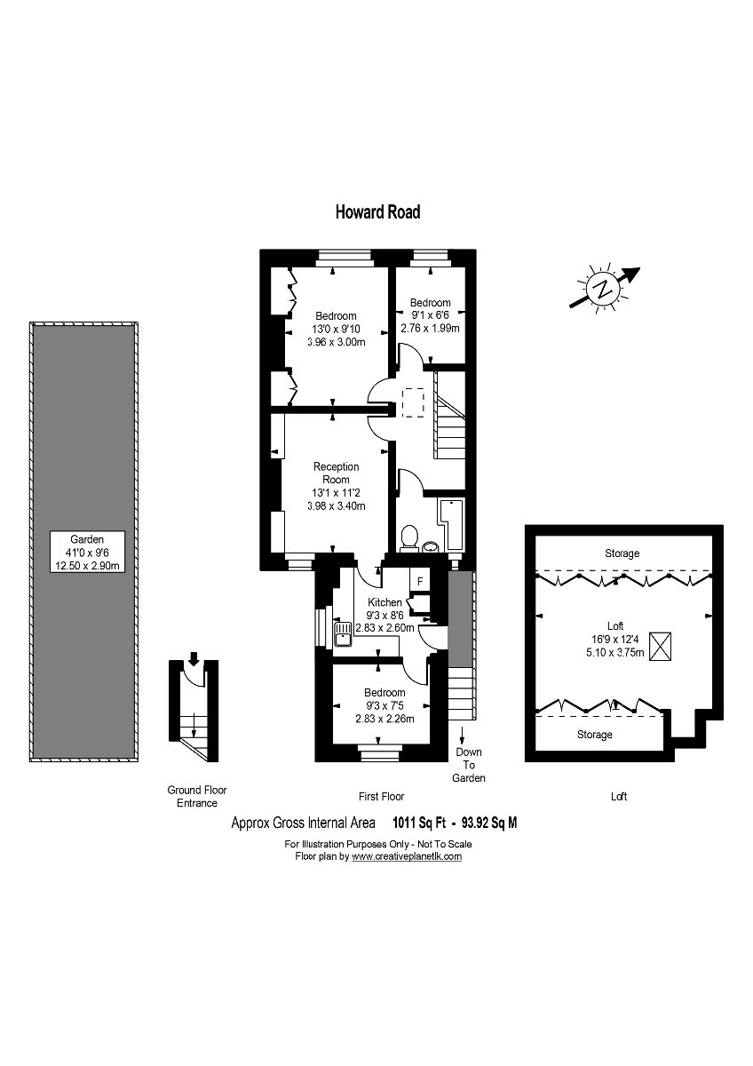 3 bed maisonette for sale in South Norwood - Property Floorplan