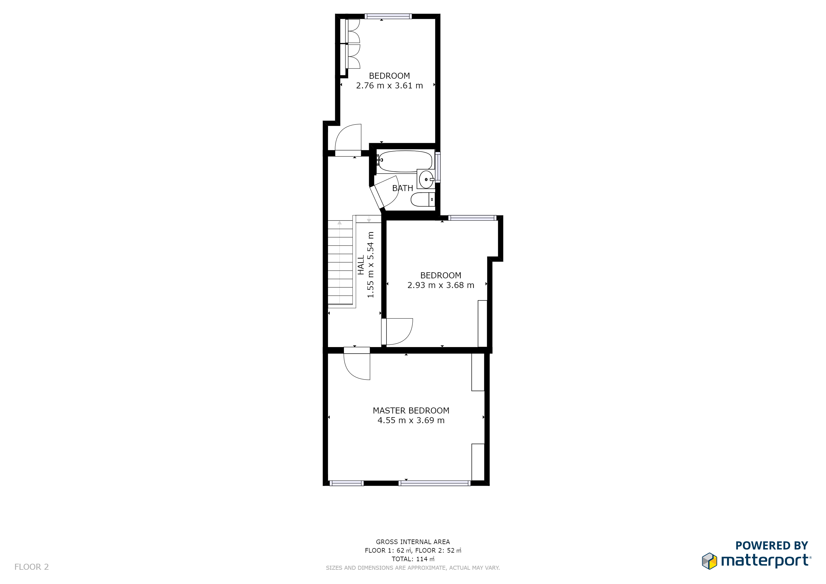 3 bed house for sale in Mitcham - Property Floorplan