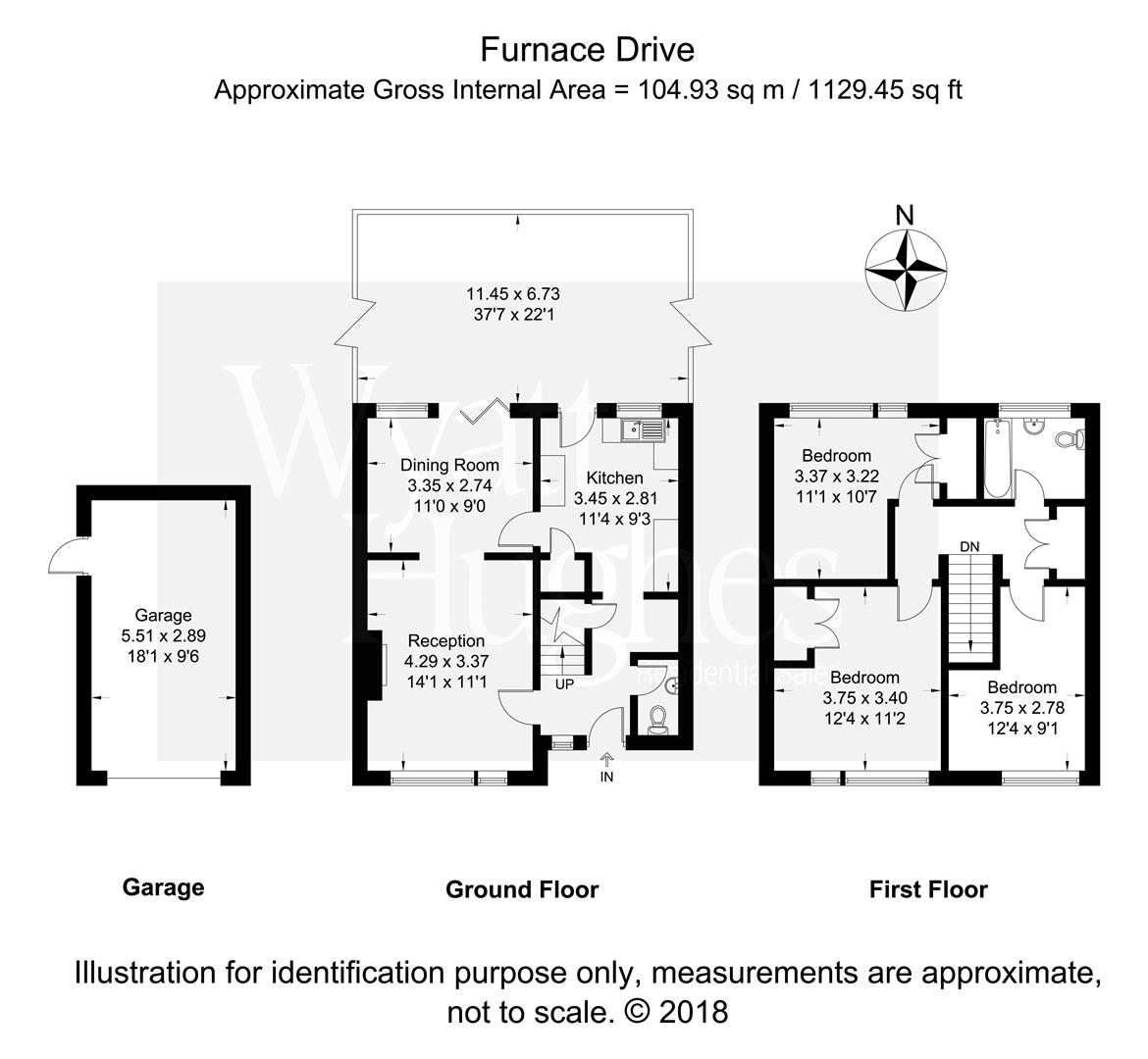 3 bed terraced house for sale in Furnace Drive, Crawley - Property Floorplan