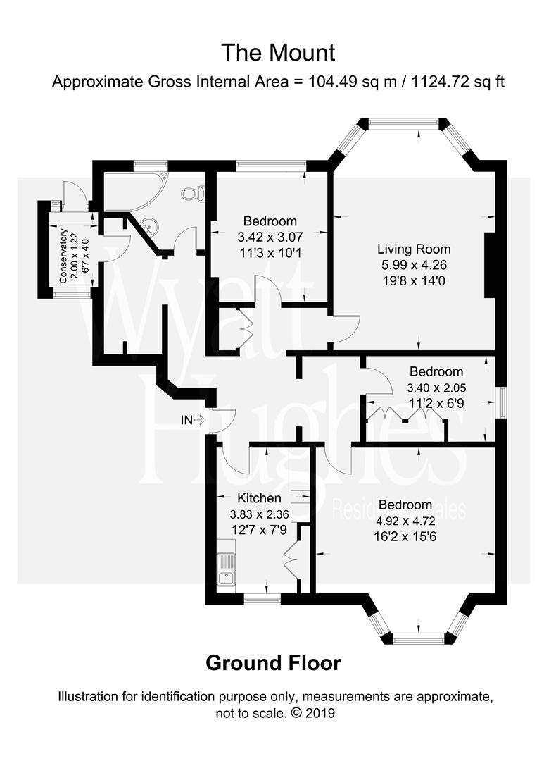 2 bed flat for sale in The Mount, St. Leonards-On-Sea - Property Floorplan