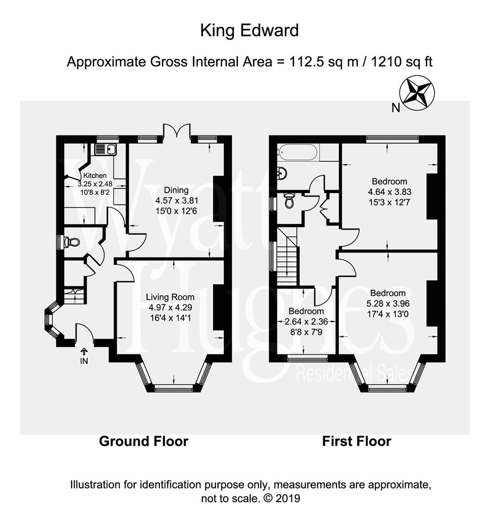 3 bed semi-detached house for sale in King Edward Avenue, Hastings - Property Floorplan