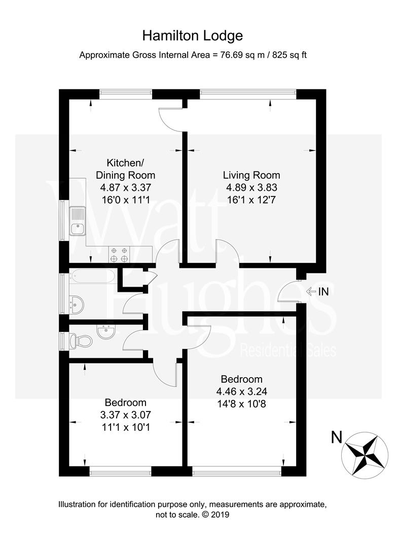 2 bed flat for sale in Dane Road, St. Leonards-On-Sea - Property Floorplan