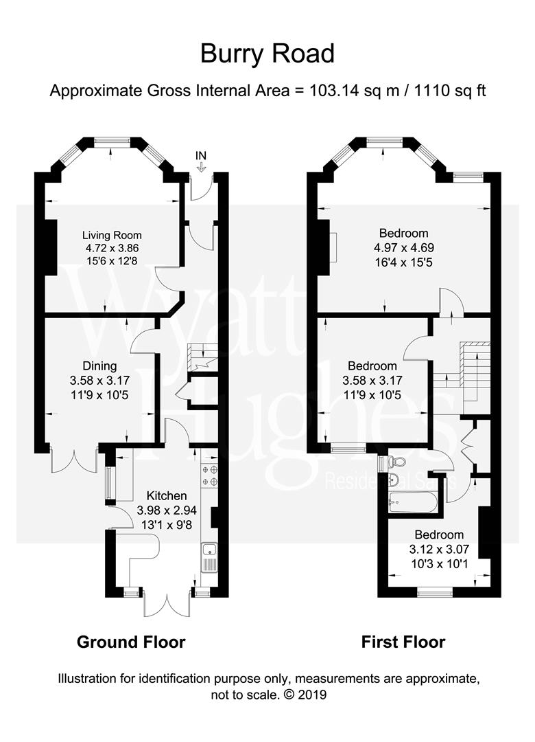 3 bed end-of-terrace-house for sale in Burry Road, St. Leonards-On-Sea - Property Floorplan