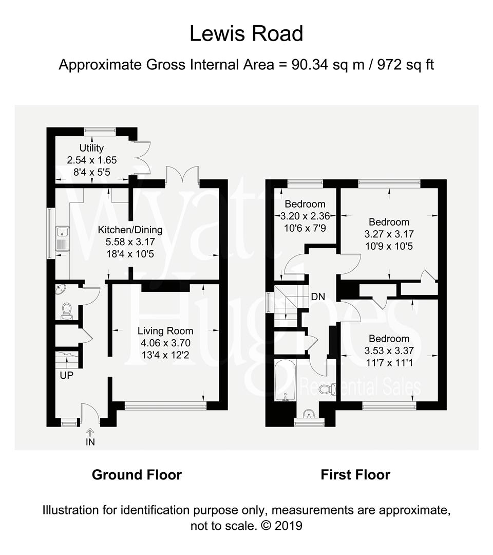 3 bed semi-detached-house for sale in Lewis Road, St. Leonards-On-Sea - Property Floorplan