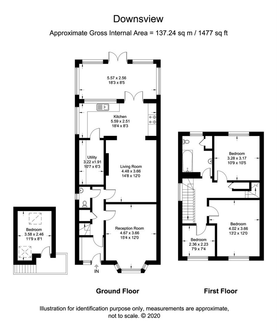 3 bed detached house for sale in The Green, Ninfield - Property Floorplan
