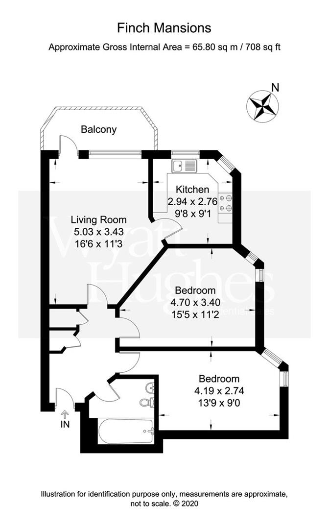 2 bed apartment for sale in Finch Mansions, St. Leonards-On-Sea - Property Floorplan