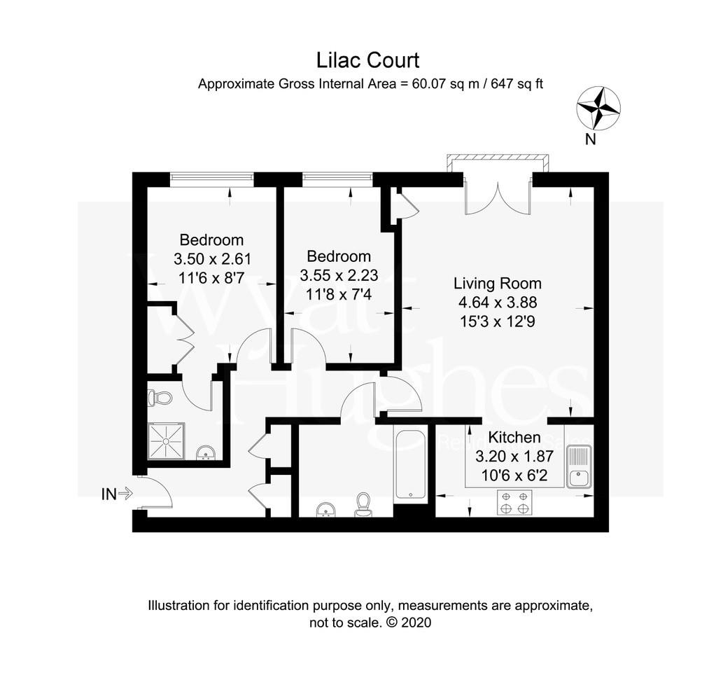 2 bed flat for sale in Arbourvale, St. Leonards-On-Sea - Property Floorplan