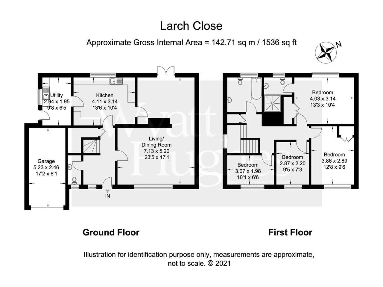 4 bed detached house for sale in Larch Close, St. Leonards-On-Sea - Property Floorplan