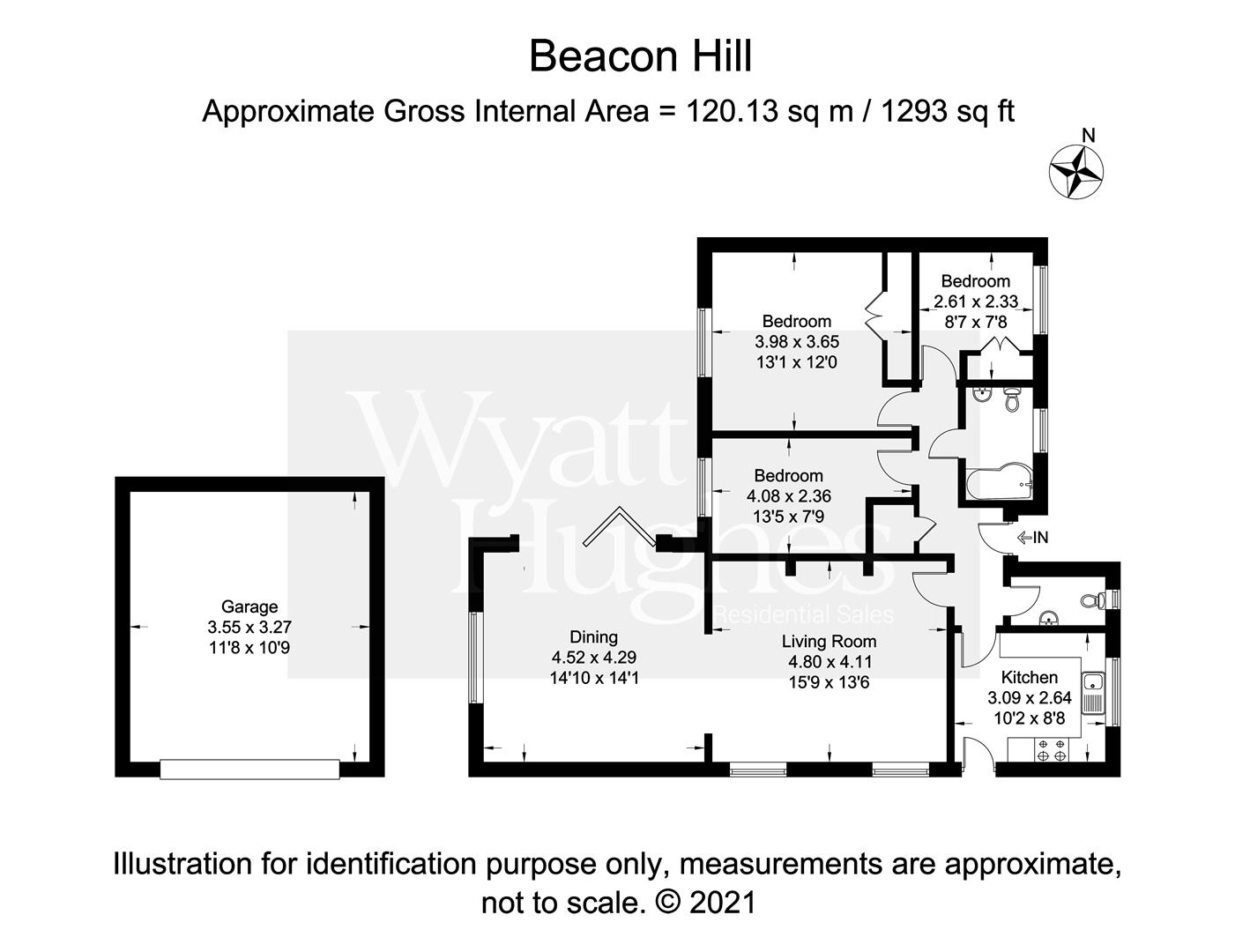 3 bed detached bungalow for sale in Beacon Hill, Bexhill-On-Sea - Property Floorplan