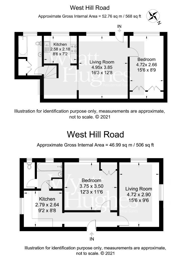 2 bed detached house for sale in West Hill Road, St. Leonards-On-Sea - Property Floorplan