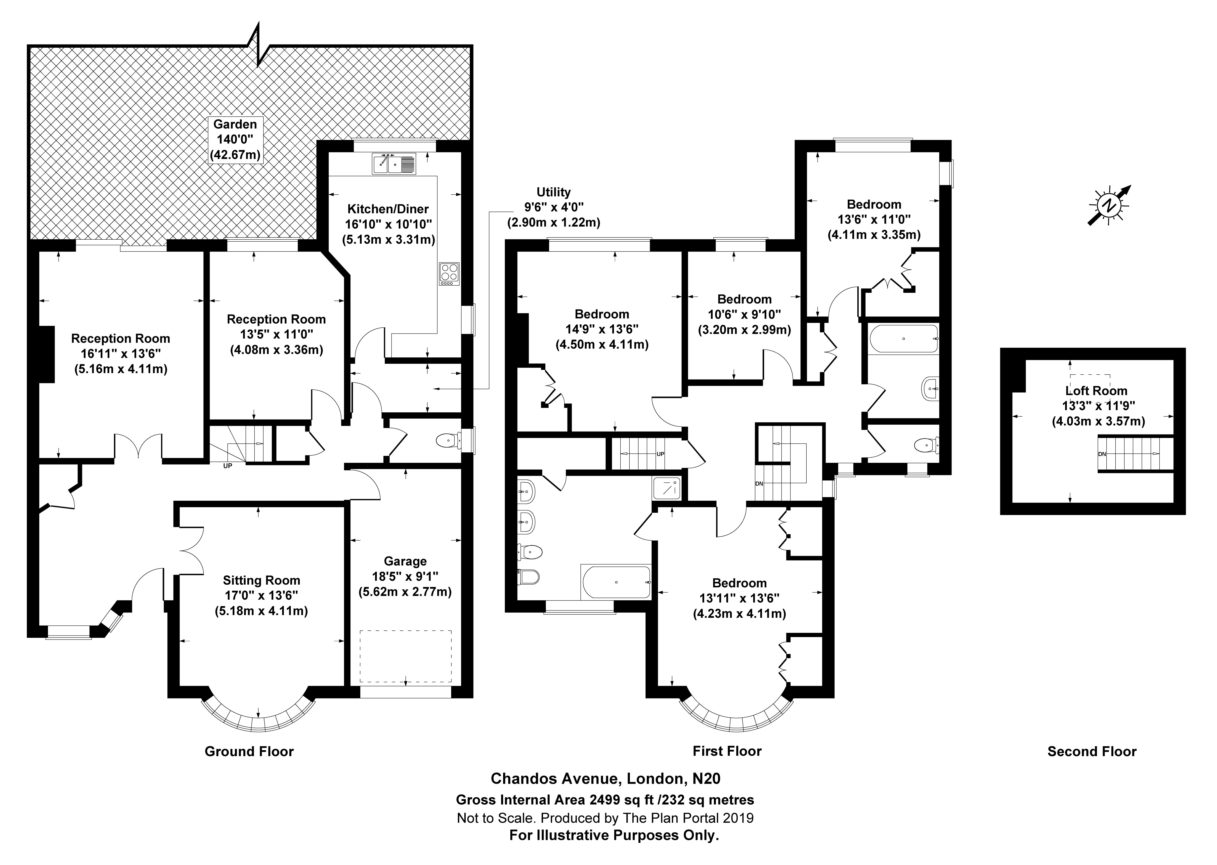 4 bed house for sale in Chandos Avenue, Whetstone - Property Floorplan