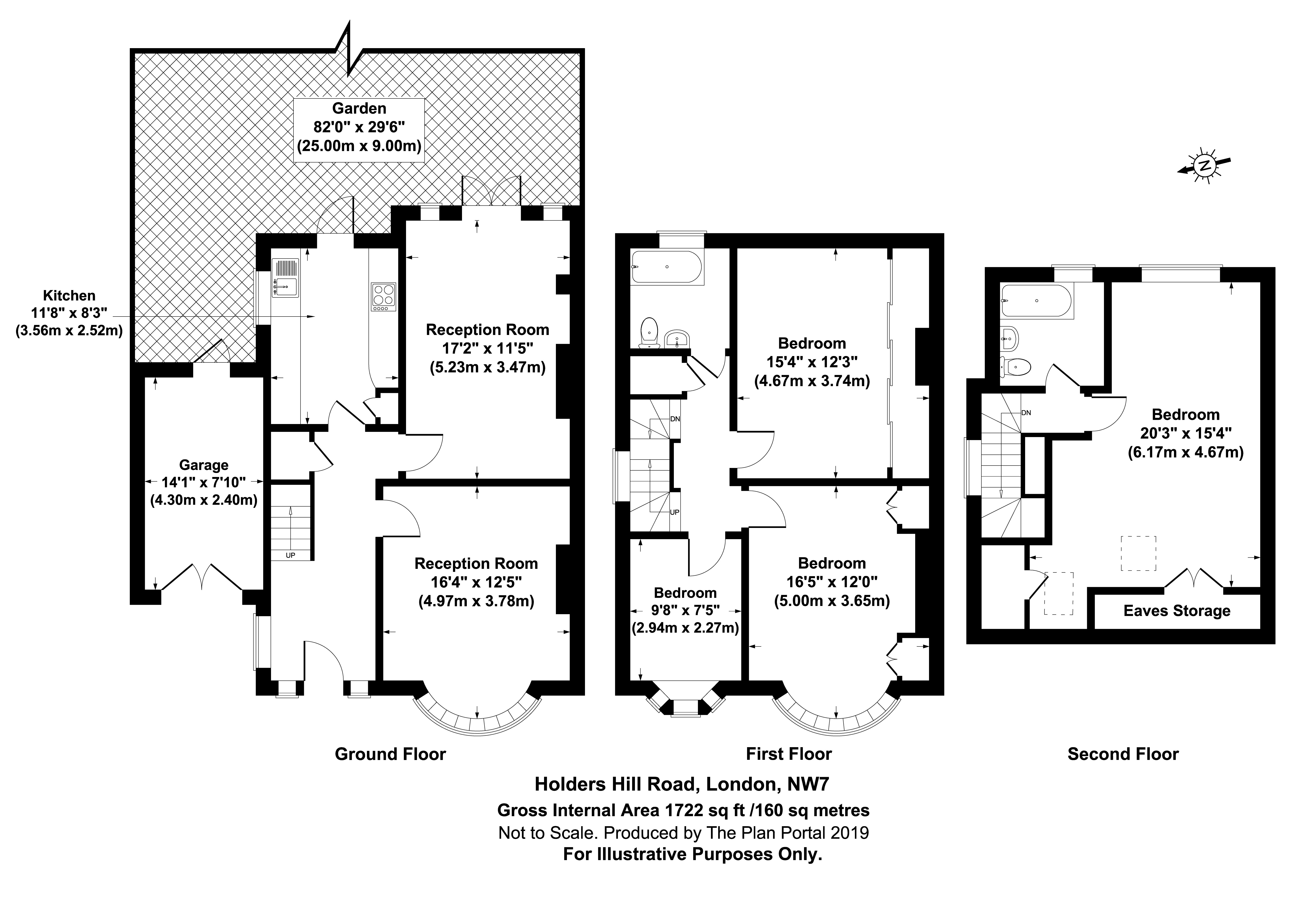 4 bed house for sale in Hendon, NW4 1LJ - Property Floorplan