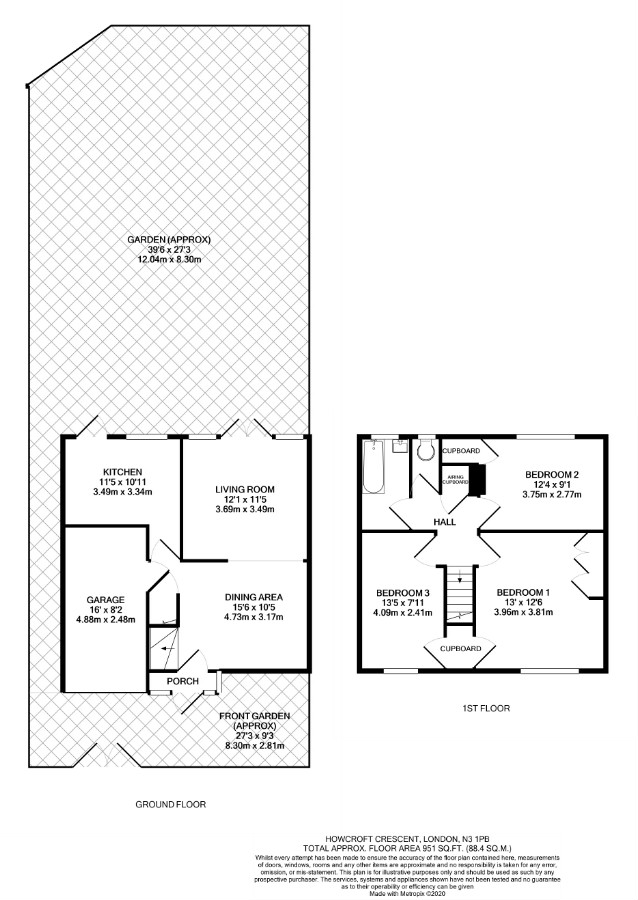 3 bed house for sale in West Finchley, N3 1PB - Property Floorplan