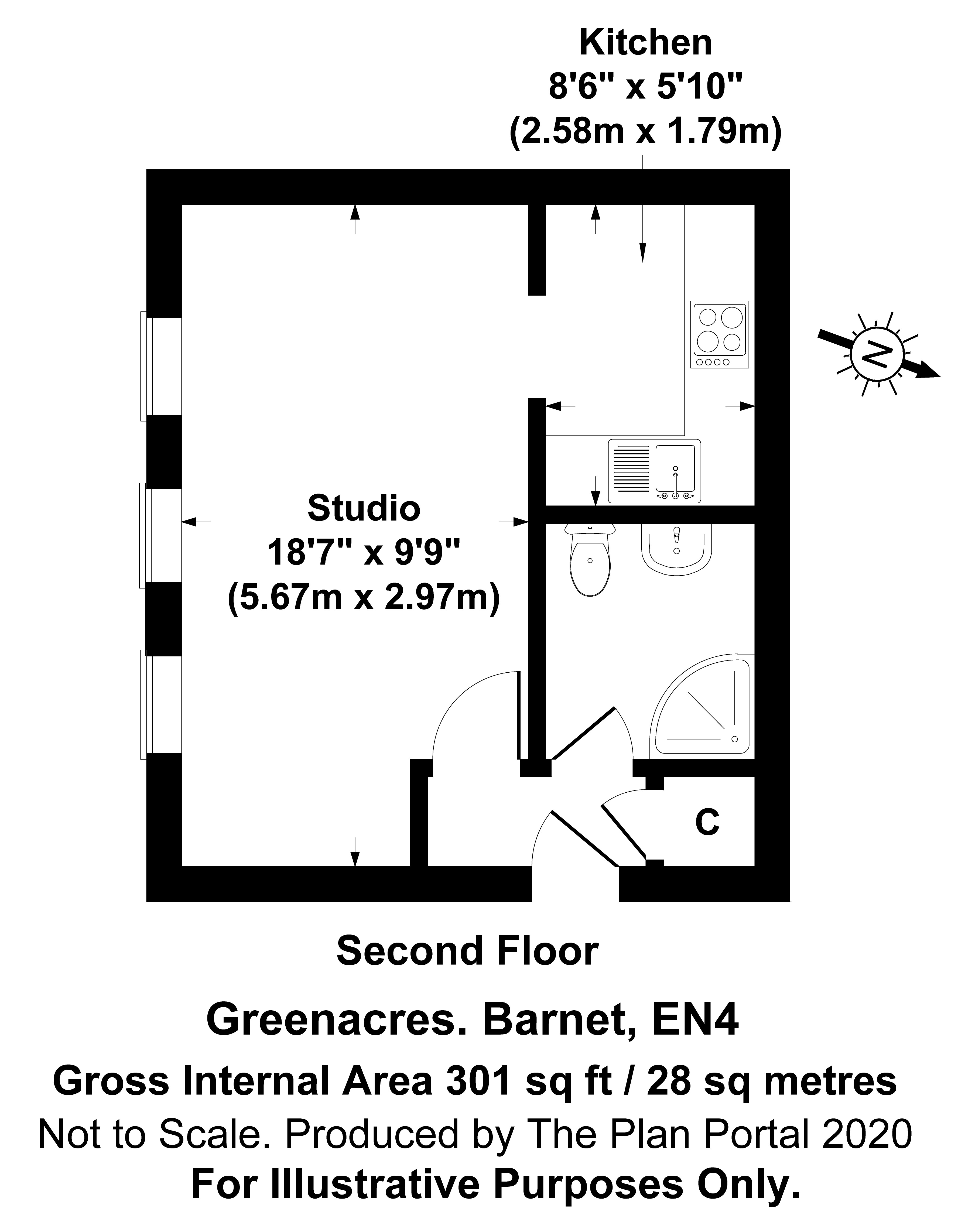 Apartment to rent in Glyn Avenue, New Barnet - Property Floorplan