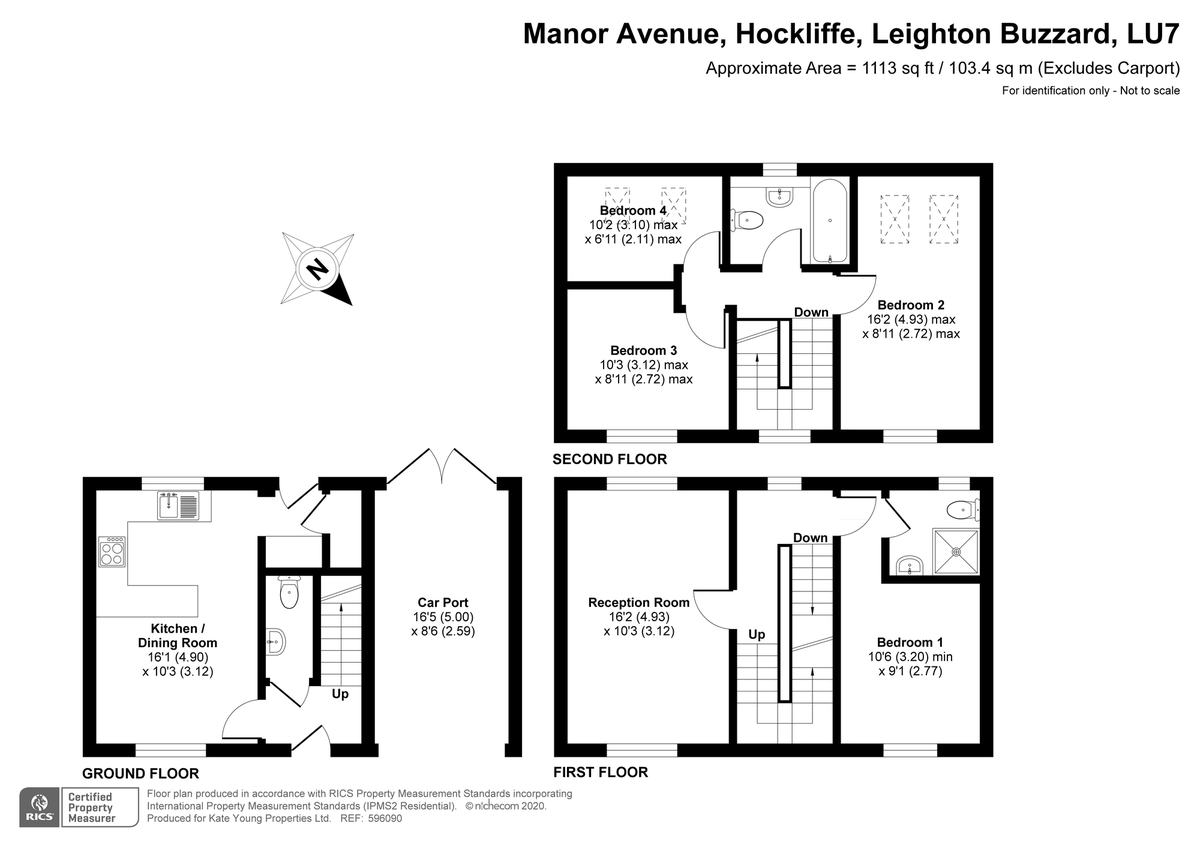 4 bed house for sale in Manor Avenue, Leighton Buzzard - Property Floorplan