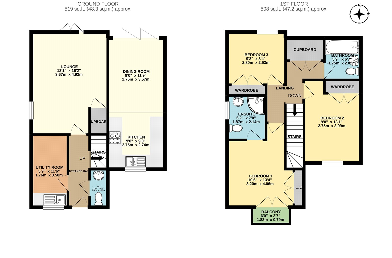3 bed house for sale in Coriander Drive, Maidstone - Property Floorplan