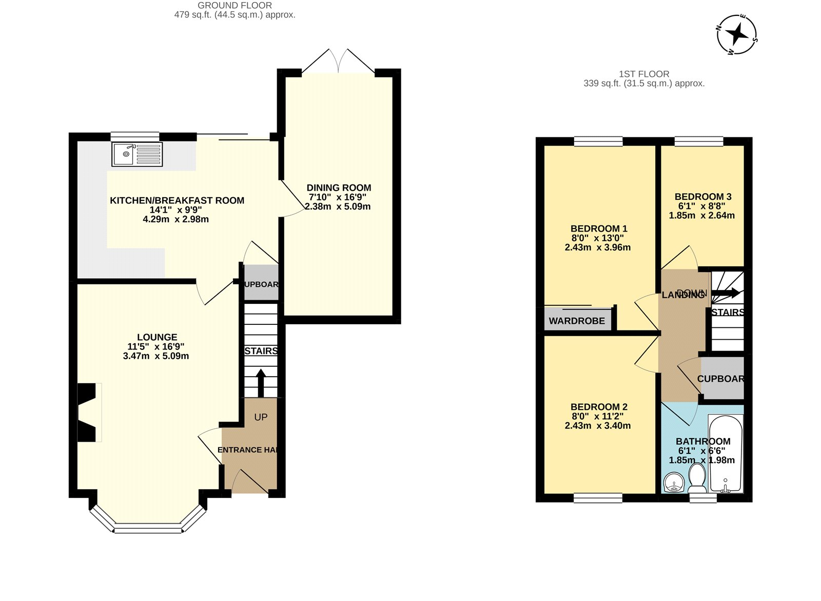 3 bed house for sale in The Mallows, Maidstone - Property Floorplan