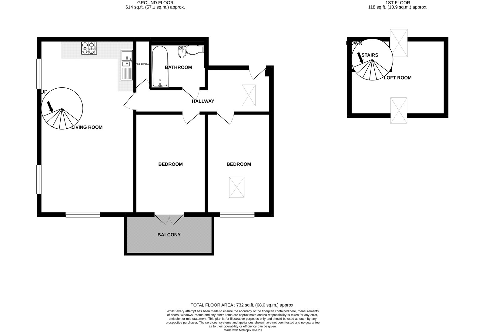 2 bed flat to rent in Free Rodwell House, School Lane, Manningtree - Property Floorplan