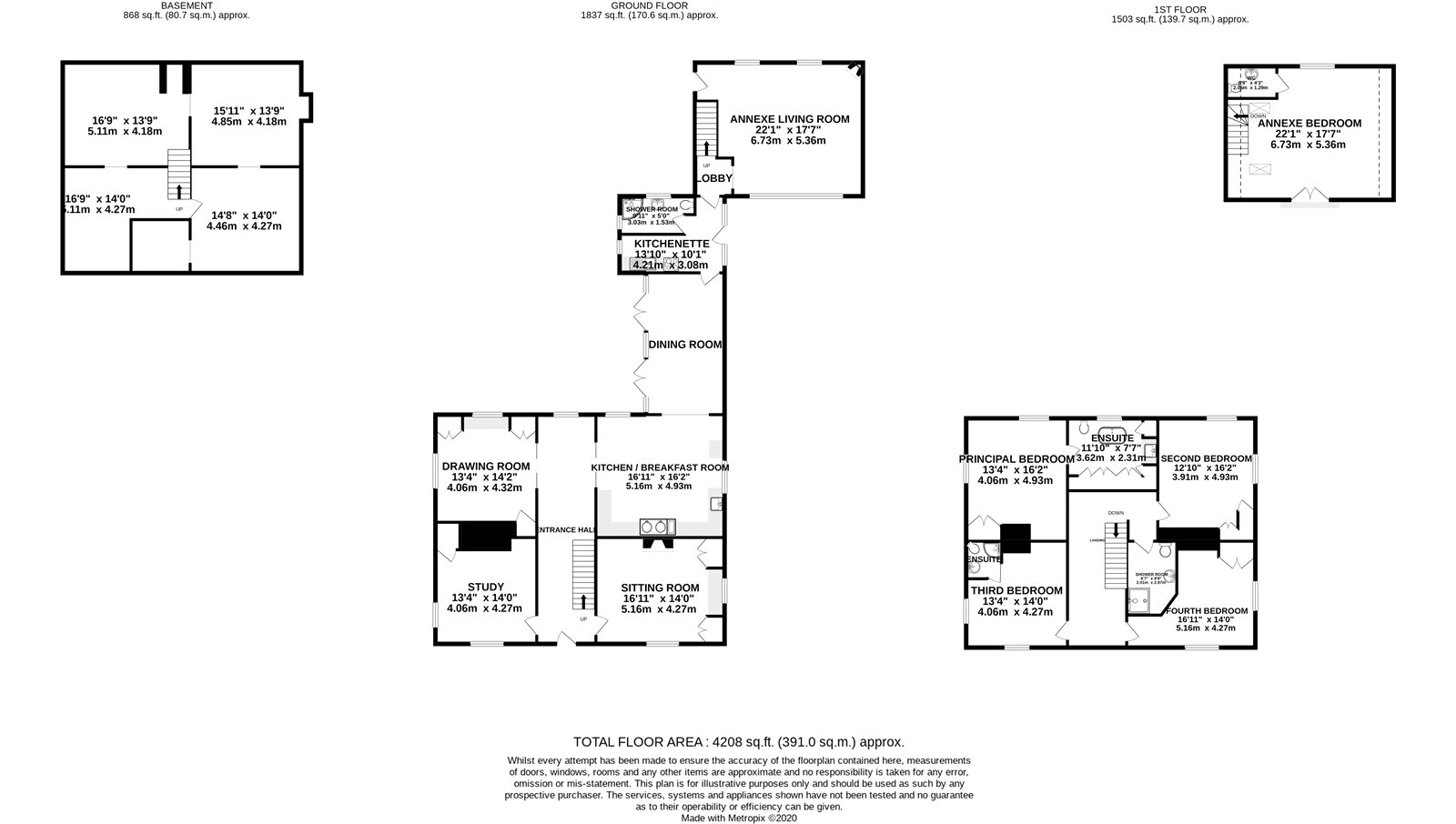 5 bed house for sale in Station Road, Ardleigh, Colchester - Property Floorplan