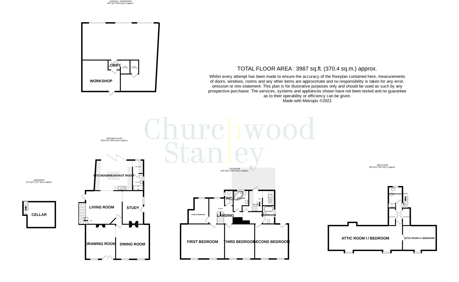 4 bed house for sale in High Street, Manningtree - Property Floorplan